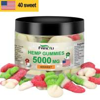 Christmas Snowmen Hemp Gummies Premium 5000MG Made in USA - Natural Anxiety & Stress Relief - Premium Hemp & Coconut Synergy - Mood & Immunity Support - Ideal Omega 3, 6, 9 Source 40Sweet12OZ