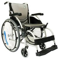 "Karman S-105 27 lbs Ergonomic Wheelchair with Fixed Footrest 18"" Seat"