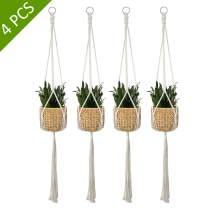 ALLADINBOX 4 Pack Macrame Plant Hanger Indoor Outdoor Hanging Plant Holder Hanging Planter Stand Flower Pots for Boho Home Decorations - Cotton Rope, 4 Legs, 4 Sizes