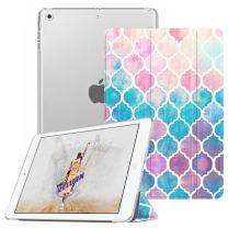 Fintie Case for iPad Mini 3/2 / 1 - Lightweight Smart Slim Shell Translucent Frosted Back Cover Protector Supports Auto Wake/Sleep for Apple iPad Mini 1 / Mini 2 / Mini 3, Moroccan Love
