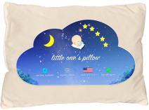 Little One's Pillow - Toddler Pillow, Organic Cotton Shell, HandCrafted in USA, Washable 13 X 18