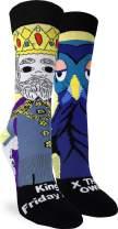 Good Luck Sock Women's Mister Rogers King Friday Socks - Adult Shoe Size 5-9