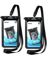 Mpow Upgraded Floating Waterproof Phone Pouch, IPX8 Waterproof Case Underwater New Type TPU Dry Bag for iPhone Xs Max/Xr/X/8/8plus/7/7plus/6s/6/6s Plus Galaxy s10/s9/s8 Google Pixel HTC12(Black)