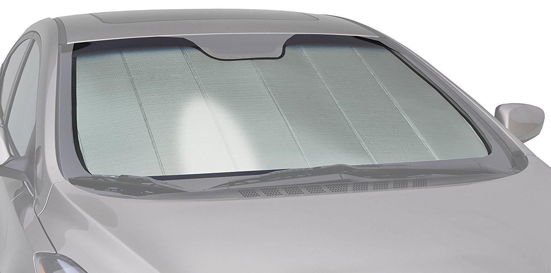 Intro-Tech HI-41A-P Silver Custom Fit Premium Folding Windshield Sunshade for Select Hyundai Tucson Models, w/Sensor