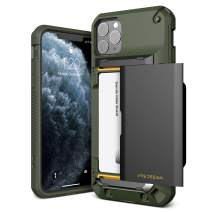 VRS DESIGN Damda Glide Pro Compatible for iPhone 11 Pro Max Case, with Premium Sturdy Semi Auto Card Wallet for iPhone 11 Pro Max 6.5 inch(2019) (Green)