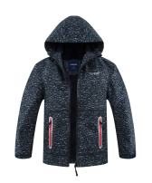 M2C Boys Girls Hooded Fleece Lined Waterproof Windbreaker Active Jacket