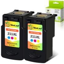 NineLeaf Remanufactured Ink Cartridge Compatible for Canon CL-211XL CL211XL CL-211 XL CL 211XL PIXMA MP230 PIXMA MX410 Printer (Tri-Color,2 Pack)