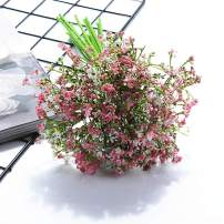 kaimimei Gypsophila Bouquets Artificial Baby Breath Flowers Anti Allergic Flower Eternal Life Flower Real Touch 16 Pcs for Wedding Party Home Decoration(White Green Purple Yellow Blue Pink)
