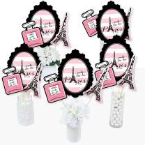 Paris, Ooh La La - Paris Themed Baby Shower or Birthday Party Centerpiece Sticks - Table Toppers - Set of 15