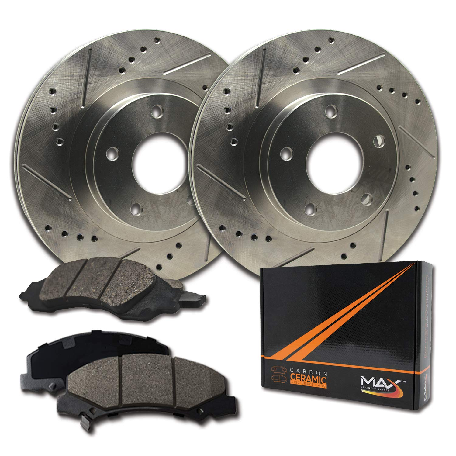 [Front] Max Brakes Premium XDS Rotors with Carbon Ceramic Pads KT066931