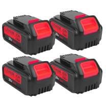 4-Pack 4.0Ah 20V for Dewalt DCB205 Battery, 2Pack Lithium-ion Replacement Battery for Dewalt dcb200 DCB204 DCB207 DCB205-2 DCB180 DCD985B DCD771C2 DCS355D1 DCD790B Cordless Power Tools