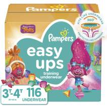 Pampers Easy Ups Pull On Disposable Potty Training Underwear for Girls and Boys, Size 5 (3T-4T), 116 Count, Enormous Pack (Packaging May Vary)