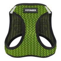 """Best Pet Supplies Voyager Step-in Air Dog Harness - All Weather Mesh, Step in Vest Harness for Small and Medium Dogs by Best Pet Supplies - Lime Green, Large (Chest: 18"""" - 21""""), 207-LM-L"""