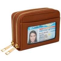 Heaye Card Case Wallet RFID with ID Window Zipper Small