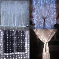 LIIDA 300 LED Fairy Lights Window Curtain String Lights for Holiday Party, Wall, Wedding Decorations 9.8 X9.8 feet, 8 Modes