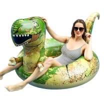 FindUWill 62'' Dinosaur Pool Floats, Inflatable Pool Floaties Swimming Rings Tube Pool Float Summer Beach Party Toys for Adults and Kids