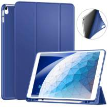 """ZtotopCase for iPad Air 10.5"""" (3rd Gen) 2019/iPad Pro 10.5"""" 2017 with Pencil Holder, Ultra Slim Soft TPU Back and Trifold Stand Cover with Auto Sleep/Wake Full Body Protective Smart Case, NavyBlue"""