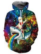 Loveternal Mens Womens 3D Printed Graphic Hoodies Novelty Pullover Fleece Hooded Sweatshirts