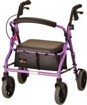 "NOVA Zoom Rollator Walker with 18"" Seat Height, Purple"