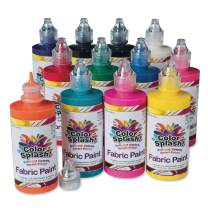 S&S Worldwide PT3315 Fabric Paint Assortment (Pack of 12)