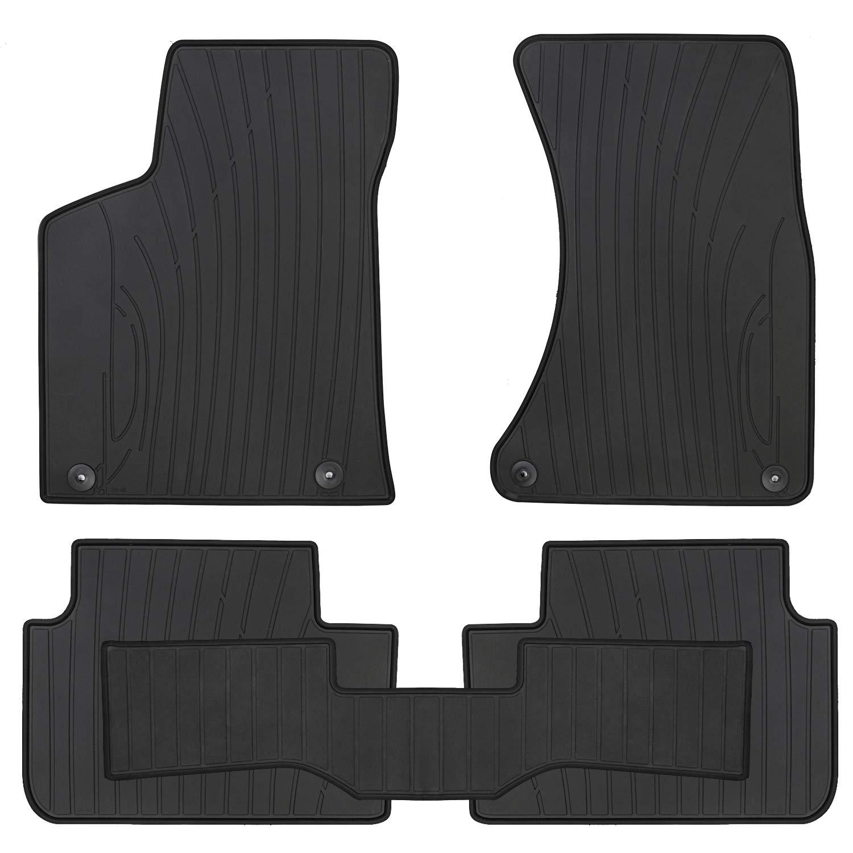San Auto Car Floor Mat Rubber Custom Fit for Porsche Macan 2020 2019 2018 2017 2016 2015 2014 Full Black Auto Floor Liners All Weather Heavy Duty Odorless