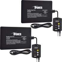 iPower 2 Pack Under Tank Heat Pad & Digital Thermostat Combo Set for Reptiles