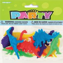 Plastic Dinosaur Party Favor Toys, Assorted 12ct