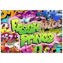 Allenjoy 7x5ft The Fresh Prince Theme Backdrop for Birthday Party Supplies Back to 80s 90s Hip Pop Colorful Graffiti Banner Background Children Baby Shower Home Decor Decoration Photoshoot Prop Favors