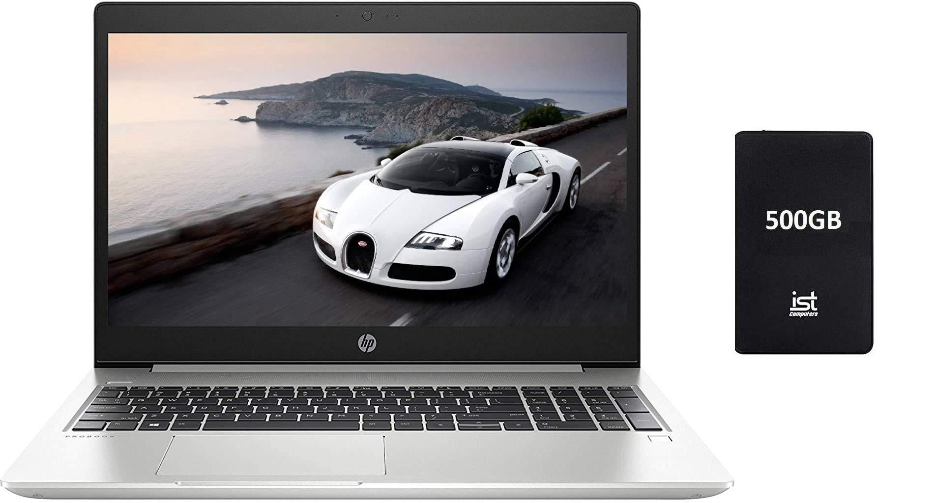 "2019 HP Probook 450 G6 15.6"" HD Business Laptop (Intel Quad-Core i5-8265U, 16GB DDR4 RAM, 256GB PCIe NVMe M.2 SSD + 1TB HDD, UHD 620) Backlit, USB Type-C, RJ45, HDMI, Windows 10 Pro Professional"