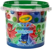 Crayola PJ Masks Creativity Bucket, Art Gift for Kids, Ages 3, 4, 5, 6, Model:04-0321