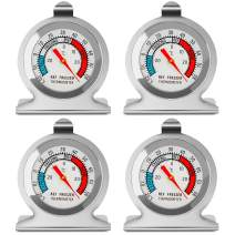 Refrigerator Freezer Thermometer Large Dial Classic Temperature Thermometer for Refrigerator Fridge Cooler (4 Pack)
