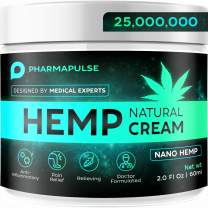 PHARMAPULSE Pain Relief Hemp Cream - Relieves Arthritis Pain, Muscle and Joint Pain, Lower Back and Knees Pain - Anti Inflammatory Cream - Made in USA - Non-GMO 2oz