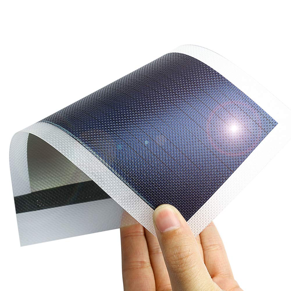 Thin Film Solar Panel Small Flexible Solar Panel Power Cells Emergency Solar Battery Charger 1W/1.5V/670MA flexible small Solar Chargers for Electronic Devices (translucent)