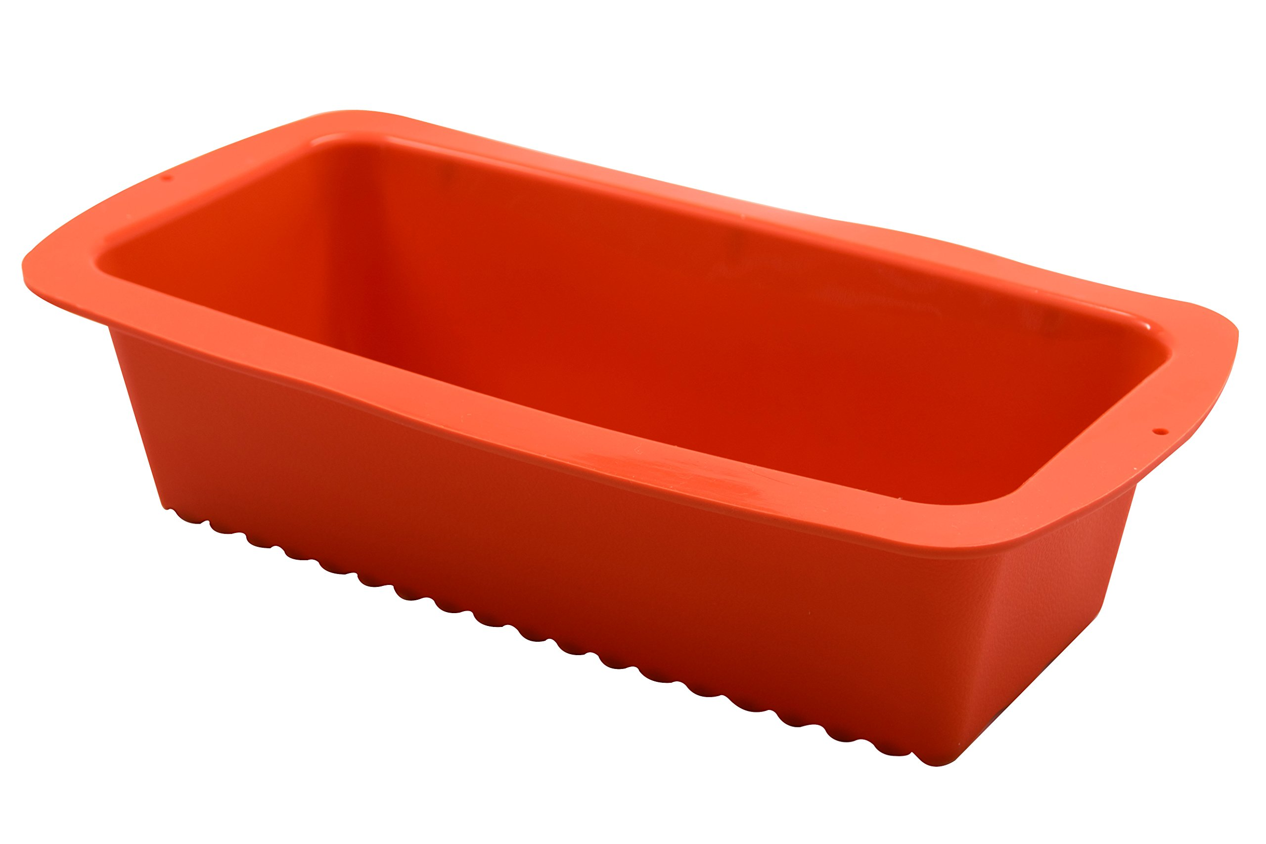 Marathon KW200009OR Premium Silicone Non-Stick Loaf, Bread and Cake Pan. BPA Free, Oven and Dishwasher Safe, Color – Orange.