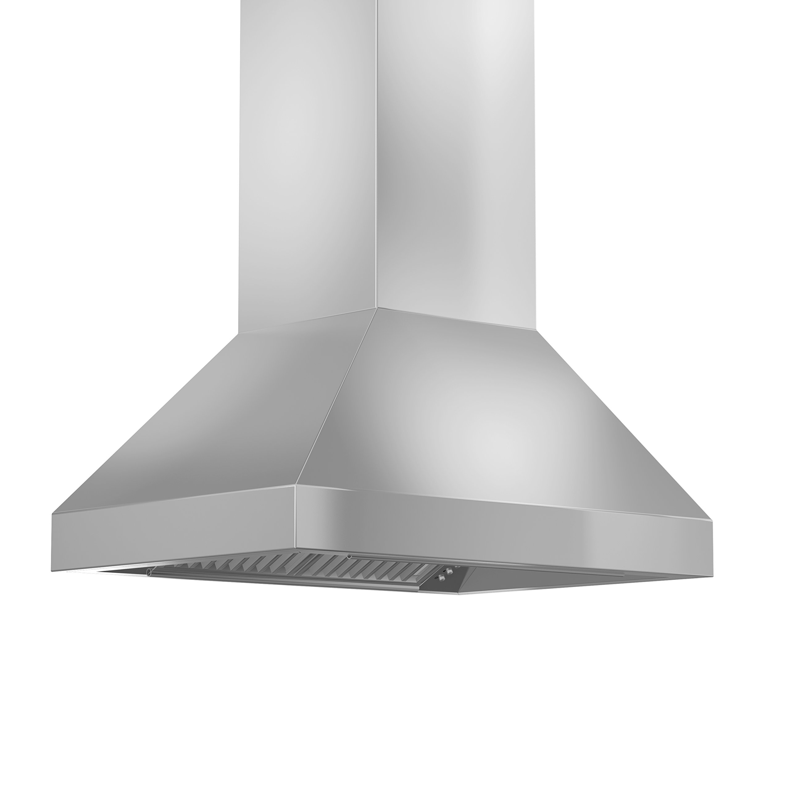 ZLINE 36 in. 900 CFM Island Mount Range Hood in Stainless Steel with Remote Single Blower
