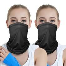 Lelife Neck Gaiter with Adjustable Drawstring, Cloth Face Masks,Sun Dust Protection Cover Bandana Balaclava