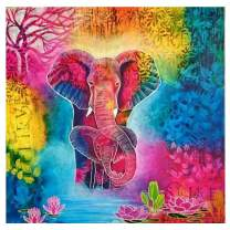 Diamond Painting Kits for Adults,5D Diamond Embroidery Pictures Arts Craft for Home Wall Decor Colorful Elephant 11.8×11.8in
