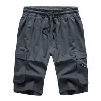 DUOFIER Men's Casual Fit Workout Shorts Running Cotton Jogger Athletic Shorts with Pockets
