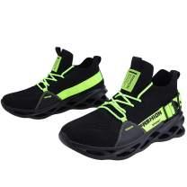 XINBEIGE Men's Sneaker Lace-up Running Shoes Work Shoe Comfortable Flyknit Walking Shoe