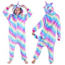 Unicorn Onesies for Girls Pajamas Hooded Kids Costume Soft Onsies Halloween Pajamas Unicorn Gifts for Girls