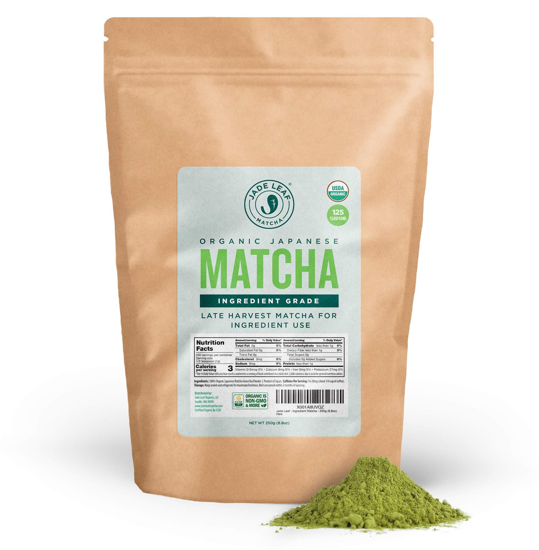 Jade Leaf - Organic Japanese Matcha Green Tea Powder, Ingredient Grade [8.8 Ounce]