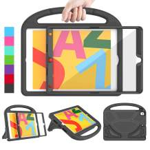 LEDNICEKER Kids Case for iPad 10.2 inch 2019, iPad 7th Gen Case with Built-in Screen Protector, Shockproof Lightweight Handle with Kickstand Case for iPad 7th Generation 10.2 inch, Black