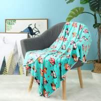 i-baby Soft Baby Blanket Large Toddler Blanket Cozy Infant Wrap Stroller Blanket Nursery Crib Blanket (Blue)
