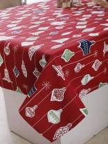"""Plush Home Table Cloth - Hanging Bells, 100% Cotton, Rectangular Table Cloth of Size 60""""X102 Inch, Eco - Friendly & Safe."""