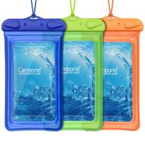 Cambond Floatable Waterproof Phone Pouch, Universal Waterproof Case for iPhone 11 pro Xs Max XR X 8 7 6 Plus, Lanyard Dry Bag Waterproof Pouch for Snorkeling Pool Beach Kayaking Travel, 3 Pack