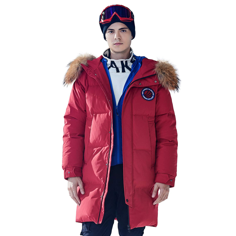 BOSIDENG Men's Harsh Deep Winter Goose Down Jacket Real Fur Hooded Resist -30℃ Coat Waterproof Thicken Long Parka