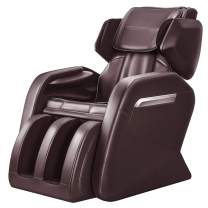 OOTORI Full Body Massage Chair Recliner, Zero Gravity for Neck Back Legs and Foot Shiatsu Massager with Heat and Foot Rollers (Brown)
