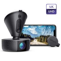 Dash Cam, VAVA 4K 3840X2140@30Fps Wi-Fi Car Dash Camera with Sony Night Vision Sensor, Dashboard Camera Recorder with Parking Mode, G-Sensor, Loop Recording, Support 256GB Max (Renewed)