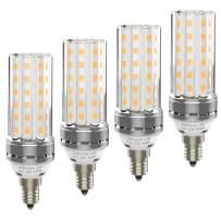 E12 LED Bulbs - 15W LED Candelabra Bulb 120W Equivalent, 1200lm, 3000K Warm White LED Chandelier Bulbs, E12 Base Non-Dimmable LED Lamp, Pack of 4