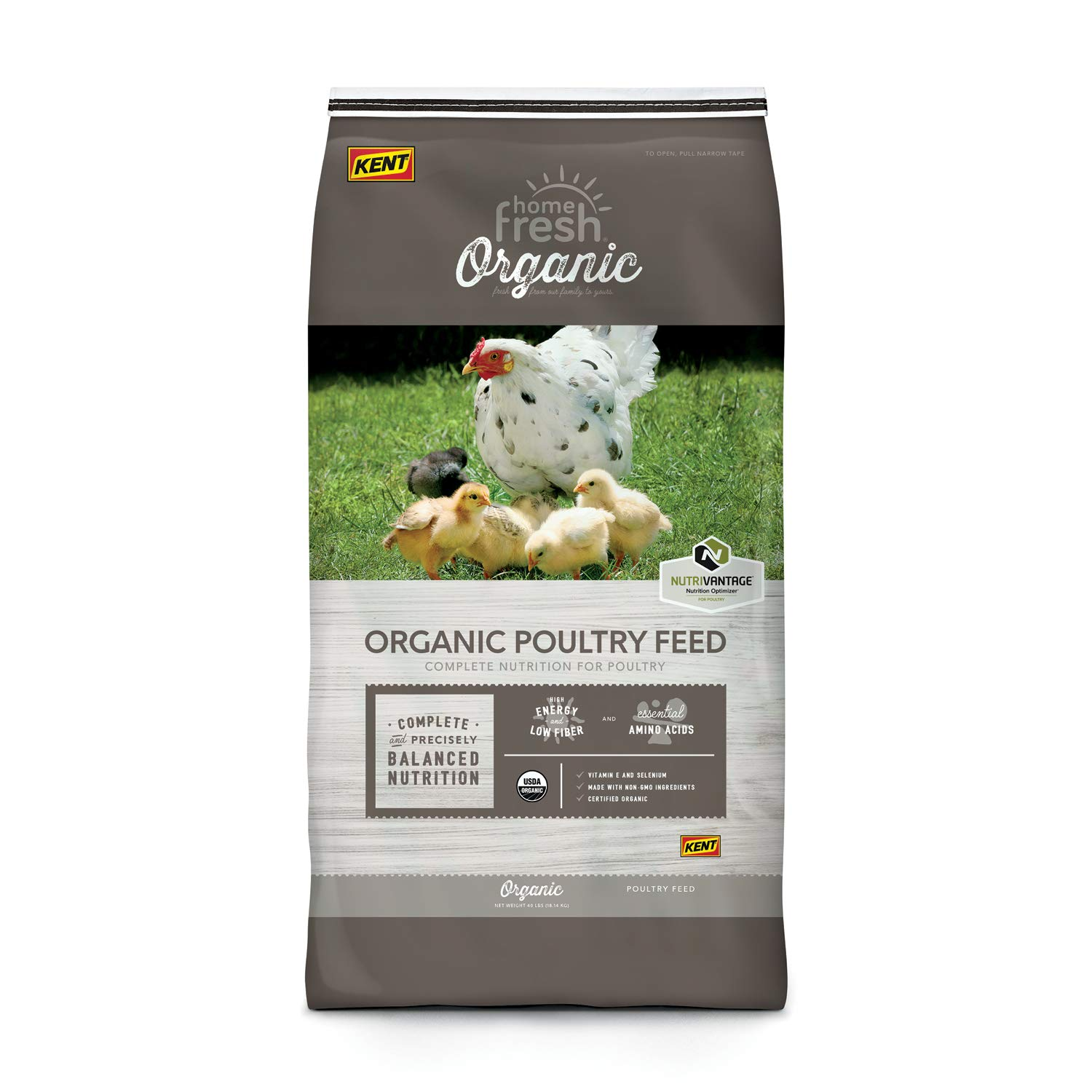 HOME FRESH Poultry Organic Chicken Starter Broiler Crumble 40 lb Bag